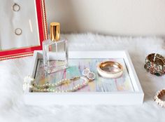 DIY Decorative tray made from a basic picture frame  http://blog.krysmelo.com/2015/01/08/diy-decorative-tray-made-from-a-picture-frame/