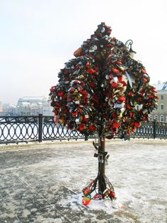Other Moscow - Trees of Love on the Luzhkov Bridge