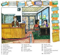 Learn the vocabulary for banking using pictures