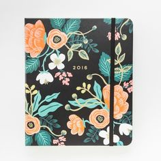 Jot down all of your 2016 plans + goals in this floral planner.