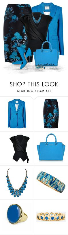 """""""Stylish look"""" by eva-malecka ❤ liked on Polyvore featuring L.K.Bennett, Monsoon, House of Ronald, Michael Kors, Sergio Rossi, Sequin, Jenny Bird and DailyLook"""