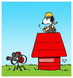 Snoopy as a team fortress 2 engineer ^____^