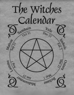 witches calender