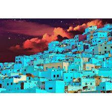 """Hillside At Midnight"" Graphic Art on Canvas"