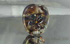 Handmade Lampwork Focal Bead  SRA  Heart by ritasbeaderynjewelry, $16.00