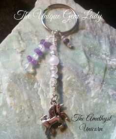 Hand Crafted Wire Wrapped Unicorn Key Ring Or by TheUniqueGemLady, £3.00
