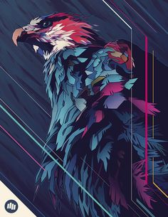 Madagascar Fish Eagle - Dani Blázquez #illustration
