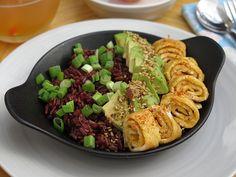 Petit déjeuner salé au riz rouge brunchs produits equitables