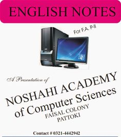 F.A. P-II, English Notes - For Every One