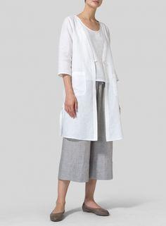 MISSY Clothing - Linen Single-Button Oversized Jacket