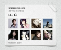Facebook Widget by blugraphic (via Creattica)