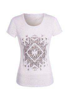 Tee-shirt basique imprimé ethnique