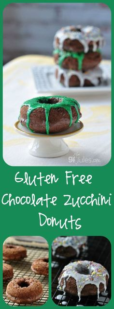 Gluten free Chocolate Zucchini Donuts ... but you don't have to tell anyone there's something healthy snuck into these yummy doughnuts! Dairy Free, Gluten Free |gfJules.com