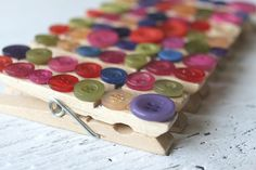 Colorful Clothespin Buttons Assorted Colors Colorful Clip Organizer Chip Clip - Set of 10 via Etsy