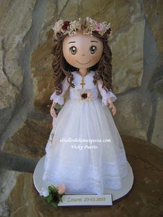First Communion Decorations, First Communion Party, Baby Shower Decorations, Diy Crafts For Gifts, Foam Crafts, New Crafts, Ideas Para Fiestas, Scrapbook Albums, Pasta