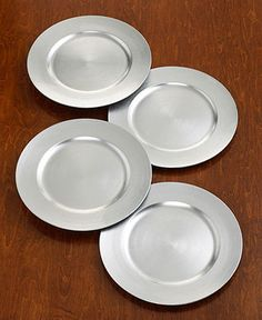 Charter Club Dinnerware Set of 4 Platinum Charger Plates - Serveware - Dining u0026 Entertaining & Charter Club Dinnerware Set of 4 Gold Charger Plates | China and ...