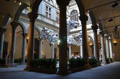 Strozzi Palace, Florence Italy~beautiful inside- a story was told that a princess lived there and it was dark and alone so they had to make it beautiful and colorful inside to sheer her up.