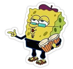Spongebob stickers featuring millions of original designs created by independent artists. Stickers Cool, Meme Stickers, Tumblr Stickers, Phone Stickers, Printable Stickers, Snapchat Drawing, Aesthetic Stickers, Transparent Stickers, Glossier Stickers