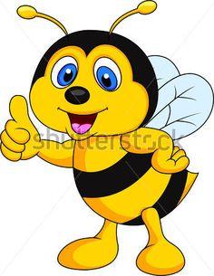 Roztomilé Včelí Kreslený Palec Nahoru vektor z knihovny - Clipart.me