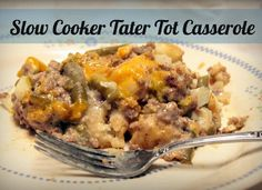 An ideal way to achieve a quick and easy tater tot casserole recipe is by slow cooking. This ground beef tater tot casserole is hearty and adding cheese on top makes for a cheesy tater tot casserole that will excite your taste buds.