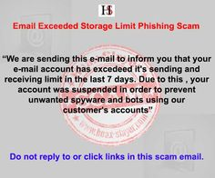 The email is a phishing scam designed to trick users into divulging their email account login details to Internet criminals.
