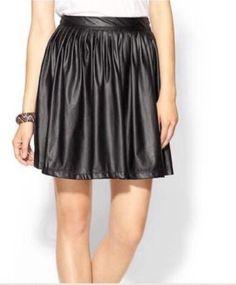 6.80$  Buy here - http://vihnk.justgood.pw/vig/item.php?t=gjagzjv48145 - Tinley Road Faux Full Leather Skirt Sz Xs A1 6.80$