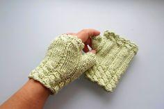 Fingerless gloves. Knitting fingerless gloves. Pale by NMNHANDMADE, $24.00