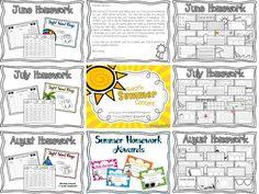 Planning for summer school? consider adding Absorb Summer Content: Summer Homework for Kindergarten Graduates to your lessons!