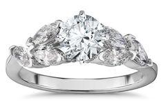 """Willow"" Engagement Ring in White Gold by Robert Leser Best Engagement Rings, Beautiful Engagement Rings, Ring Settings Only, Kite, Bling Bling, Crowd, Diamonds, White Gold, Weddings"