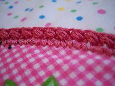 Crochet edging for blankets (especially fleece)