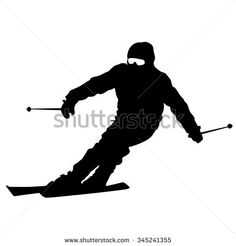 Skiing Silhouette Stock Photos, Images, & Pictures | Shutterstock