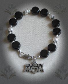 Hockey Bracelet/Hockey Jewelry/Hockey by SusanSerdarGallery, $10.49
