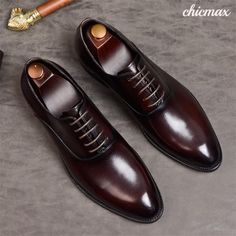 f6855f0f3f8f Phenkang mens formal shoes genuine leather oxford shoes for men black 2019  dress shoes wedding shoes