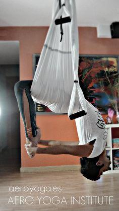 Aerial Yoga, Aerial yoga by aero Yoga www.aerialyoga.tv Yoga Swing-Air Pilates: Teacher Training, Spain, via Flickr.