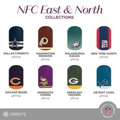 NFL Collection by Jamberry!!! Who are you rooting for this football season?!  NoelMWheaton.jamberrynails.com