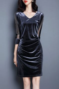 Ruched Velvet Dress                                                                                                                                                                                 More