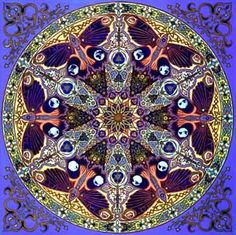 Stephen E. Meakin, Geometer, Architect, Artist, Antiquarian and Megalithomanic leads the field in Sacred Geometry as Mandala painting through the shear depth and breadth of his research.