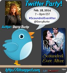 Author @Darcy Burke hosts a #ScoundrelEverAfter Twitter Party on 2/18 from 7-8pm EST. #historicalromance #books #giveaways #romance
