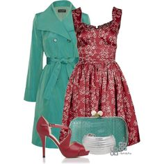 """""""The Zeal of Red n' Teal Part II"""" by stylesbyjoey on Polyvore"""