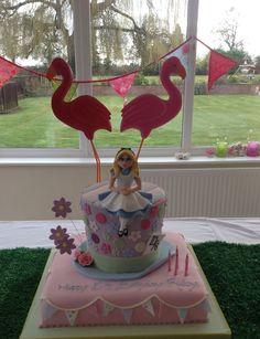 Gorgeous Alice In Wonderland Birthday cake