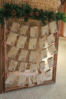Image result for advent calendar, bags, garland