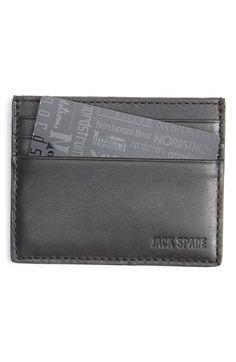 Men's Jack Spade 'Grant' Leather Card Holder - Black