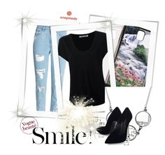 """""""SNAPMADE 17"""" by anidahadzic ❤ liked on Polyvore featuring Samsung, Alexander Wang, Casadei and Crate and Barrel"""