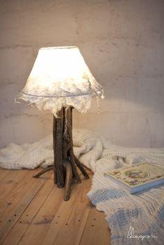 Авторский светильник из шерсти
