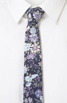 Topman Floral Print Woven Tie available at #Nordstrom