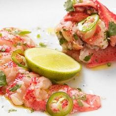 Lobster Ceviche... Yeah, try saying that without smiling :))