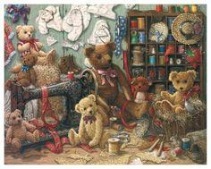 Картина Janet Kruskamp называется Teddy Bear Workshop