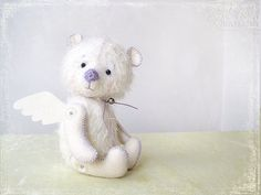 https://www.etsy.com/treasury/MTczMjYxOTB8MjcyMjQ0MDEyMw/angels-among-us-pay-it-forward Teddy Angel white frend for you 6 inch TO ORDER by zverrriki, £35.00