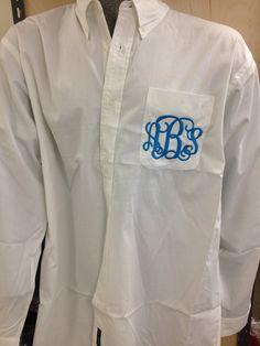 Oversize Monogrammed Button Down Shirt - Boyfriend Shirt - Bride, Bridesmaids, Sorority, Bridal Part - 29 Colors on Etsy, $25.00