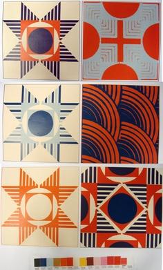 Art Deco Tile of many colors Art Deco Tiles, Art Deco Bathroom, Bathroom Floor Tiles, Textile Patterns, Textiles, Light And Space, Mosaic Art, Geometry, Calypso